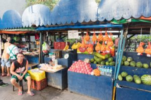フィリピンの果物屋