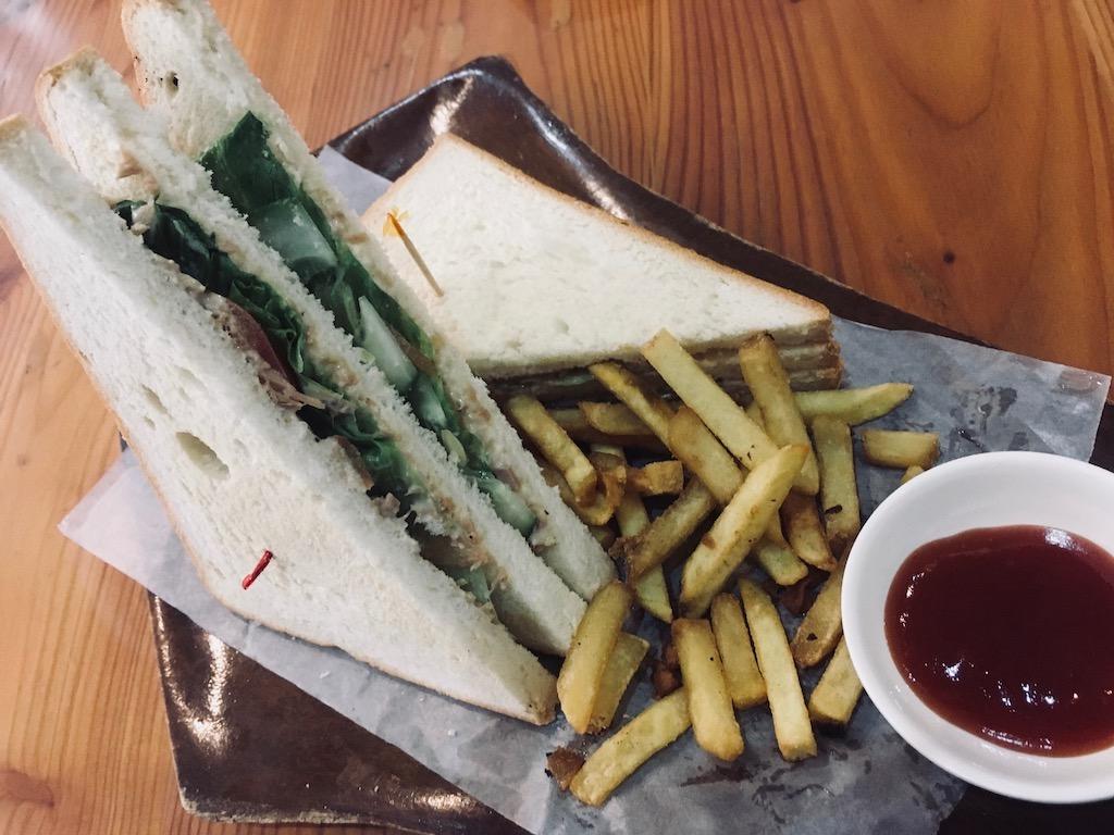Tuna Sandwich with Fries