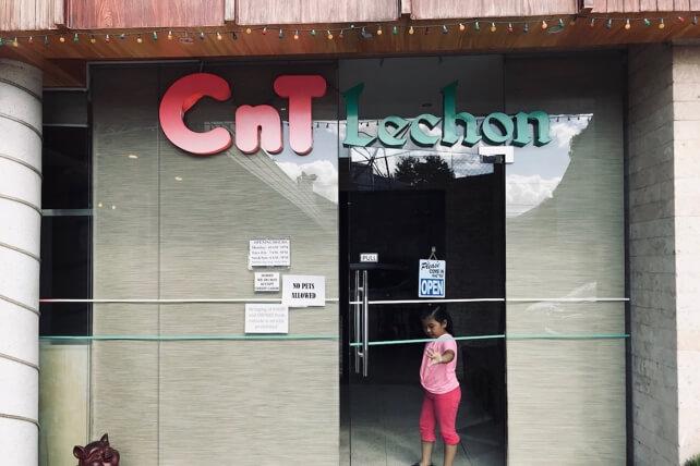 CnT Lechonの店外