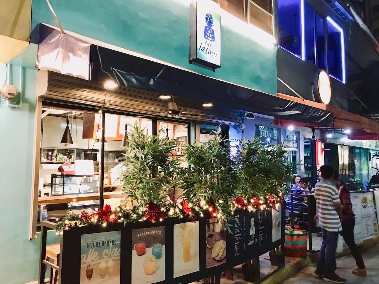 cafe Jasminの店外