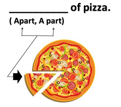 ApartとA partの違い